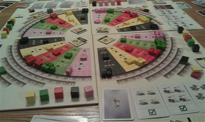 A picture of us playing Die Macher